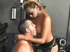 Strong dude brutal ass screwed ebony tranny slut