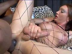 Fetish transsexual slut with big cock fucking hard