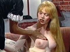 Governess slut satisfy ardent blonde transsexual
