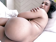 When she has all her clothes on, this curvaceous brunette vixen could fool any man with her innocent aura. And to get us all excited Charboo slowly takes off her lingerie to show off her delicious goodies from her cute natural tits, sexy ass down to her h