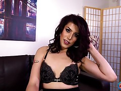 Gorgeous Crystal M returns once more! Without a doubt one of the hottest newcomers of 2017, Crystal always gets us excited when she`s around... She`s sexy as hell! Looking smoking hot dressed in an elegant, yet racy outfit, she shows off her long legs and